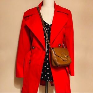 For Cynthia Red Trench Coat